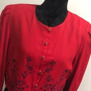 Periwinkle vintage dress+matching blazer size 14